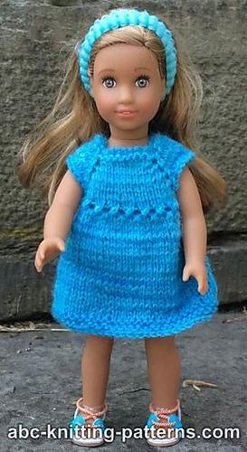 Knitting Patterns Galore American Girl Mini Doll Sundress