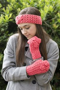 Fun Floral Headband and Mitts