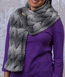 Woven Cable Scarf