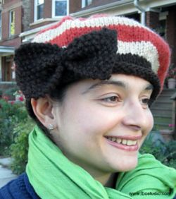 Big Slouchy Bow Beret