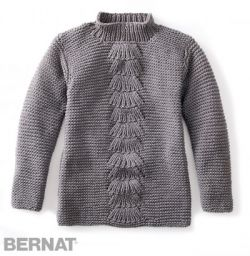 Center Fan Knit Pullover