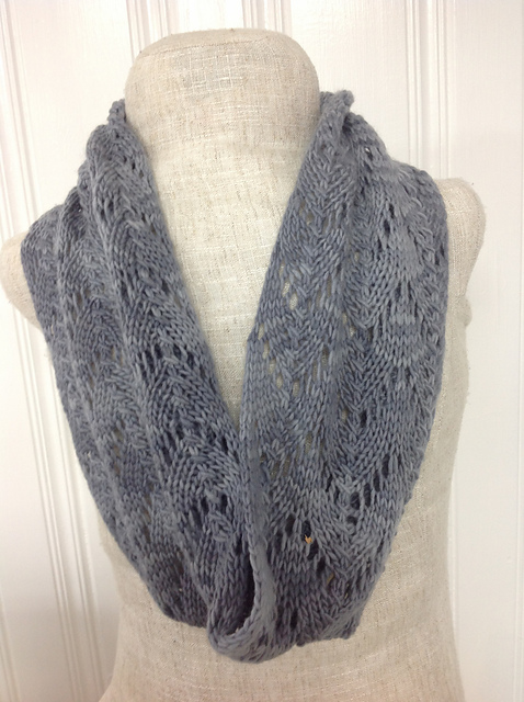 Knitting Patterns Galore - Stormy Lace Cowl