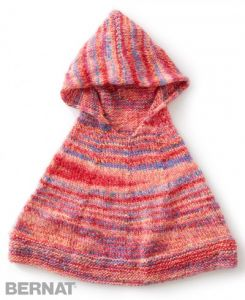 Reach For The Rainbow Knit Poncho