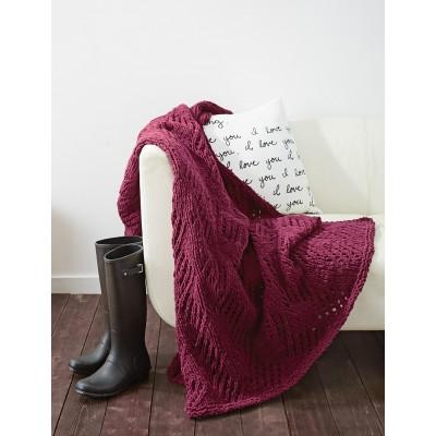 Knitting Patterns Galore Angled Eyelets Blanket