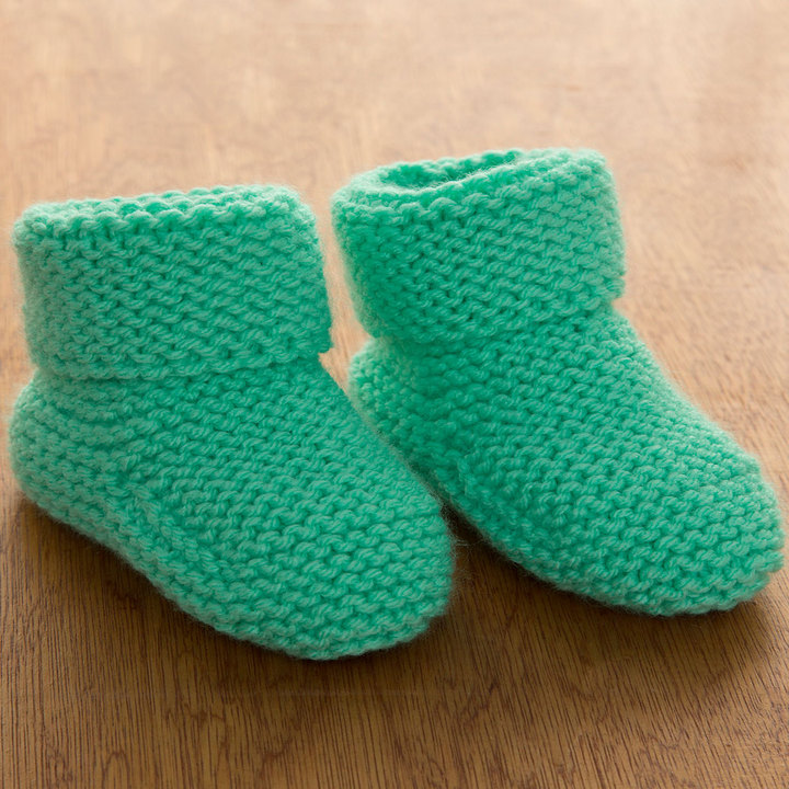 Knitting Patterns Galore - Garter Stitch Baby Booties