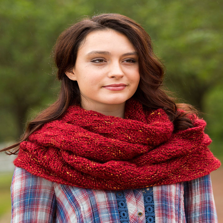 Knitting Patterns Galore Garter And Lace Cowl