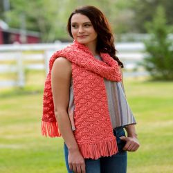 Wavy Drop-Stitch Scarf