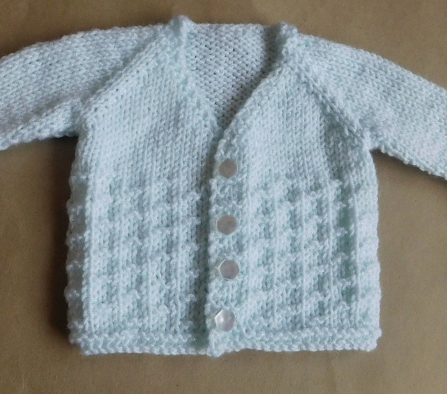 618b5a6ea8dc91 Knitting Patterns Galore - NEVIS Top-down V-neck Baby Cardigan Jacket