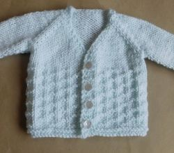 NEVIS Top-down V-neck Baby Cardigan Jacket