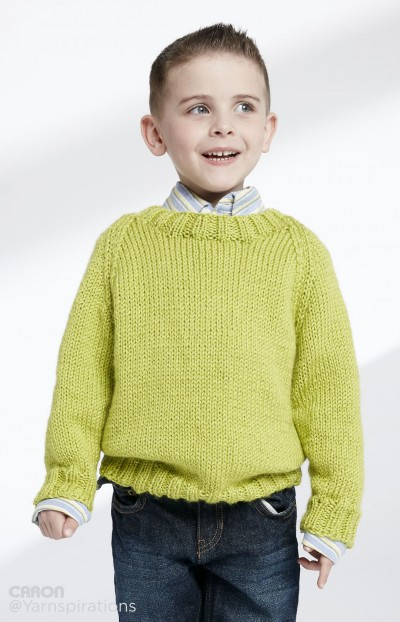 Knitting Patterns Galore Childs Knit Crew Neck Pullover