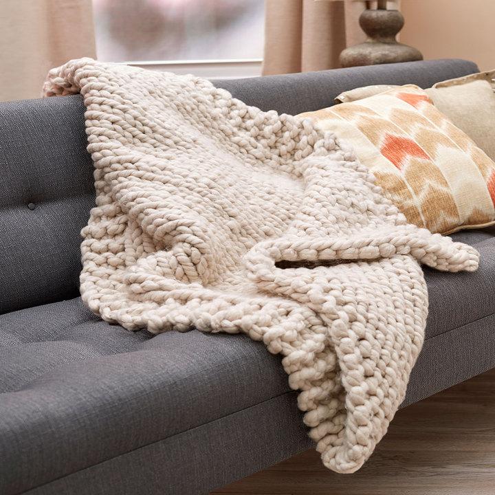 Knitting Patterns Galore Wonderful Big Stitch Throw