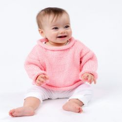 Pretty-n-Pink Baby Pullover