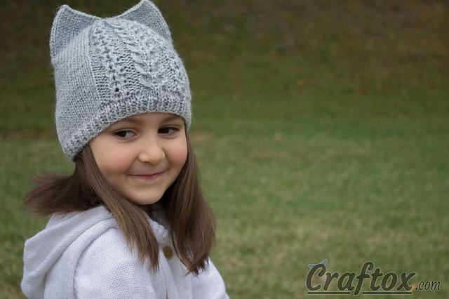 Knitting Patterns Galore Cat Ear Hat