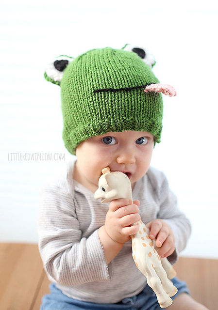Knitting Patterns Galore Funny Frog Hat