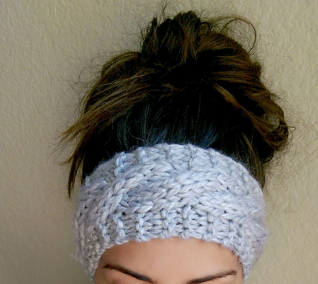 Knitting Patterns Galore Chunky Cabled Headband