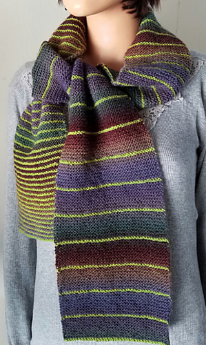 Knitting Patterns Galore - Parallel Lines Scarf