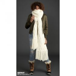 Rib Check Knit Super Scarf