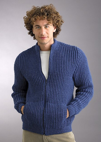Knitting Patterns Galore Marvel 12ply Fisherman Rib Jacket