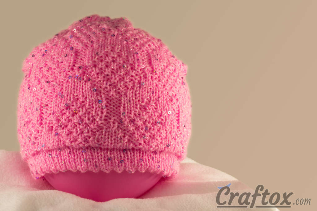 Knitting Patterns Galore - Easy Beanie with Paillettes for 5-6-Year ...