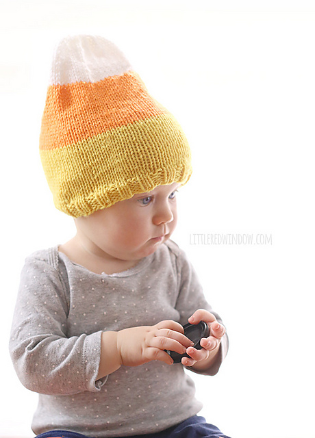 Knitting Patterns Galore - Candy Corn Hat
