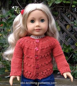 American Girl Doll Country Style Autumn Cardigan