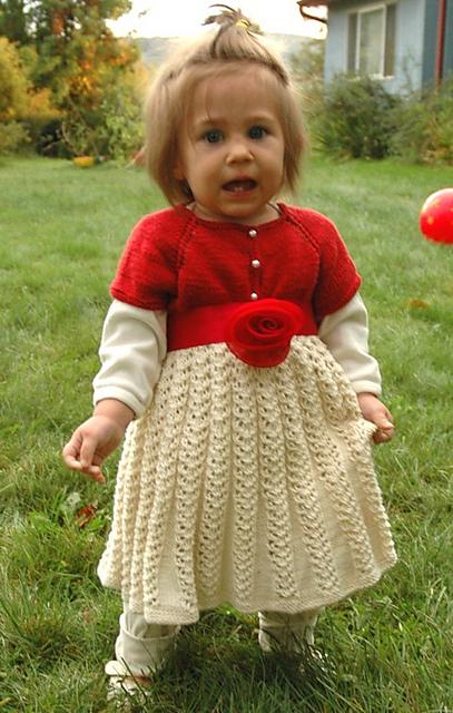 Knitting Patterns Galore Toddler Christmas Dress