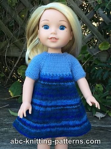 Knitting Patterns Galore Wellie Wishers Doll Dress And
