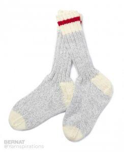 Knitting Patterns Galore - Chunky Knit Work Socks
