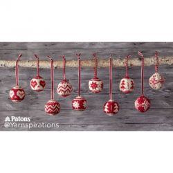 Merry Fair Isle Knit Ornaments