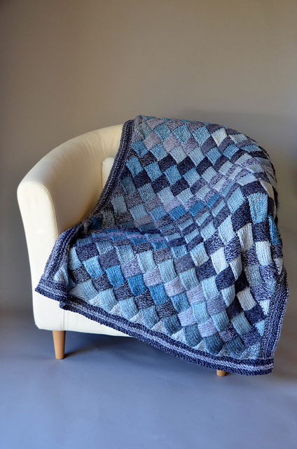 Knitting Patterns Galore Woven Sky Throw