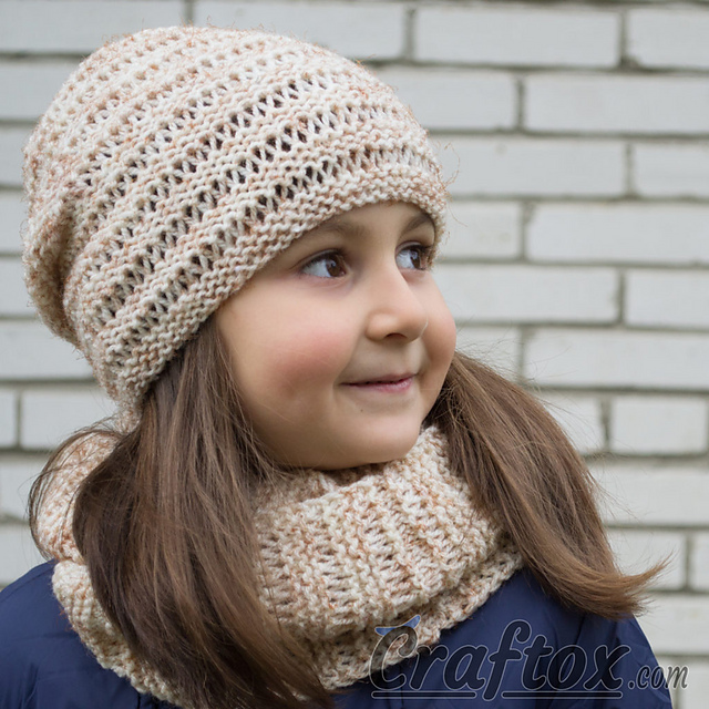 Free Knitting Patterns Cowl Hat : Knitting Patterns Galore - Kari Hat and Cowl Set
