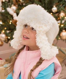 Snowy Child Earflap Hat