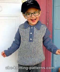Trendsetter Boy's Sporty Brioche Sweater