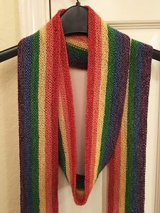 Long Rainbow Scarf