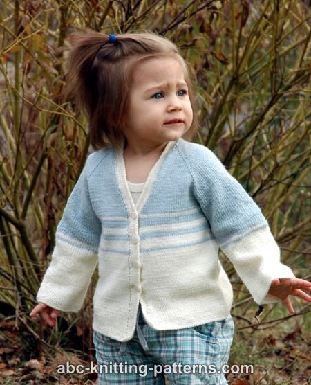 8b7148cac1697 Easy Stripes Seamless Child Cardigan Free Knitting Pattern. Easy ...