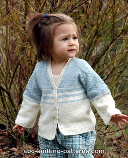 Knitting Patterns Galore Easy Stripes Seamless Child Cardigan