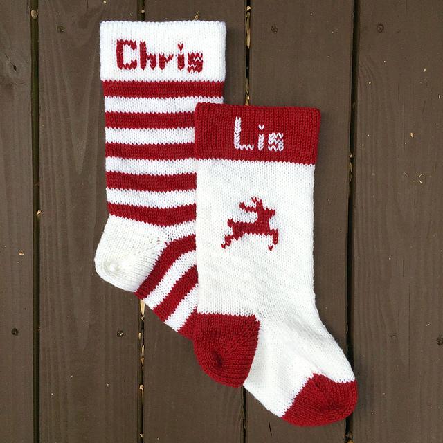 Classic Christmas Stocking Knitting Pattern : Knitting Patterns Galore - Classic Christmas Stocking