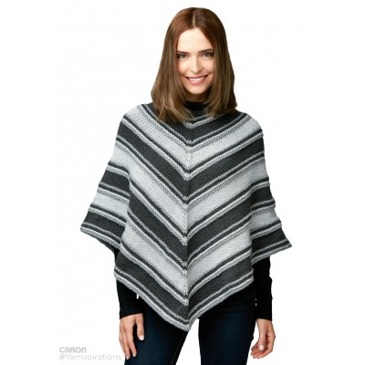 Knitting Patterns Galore Fade To Grey Knit Poncho