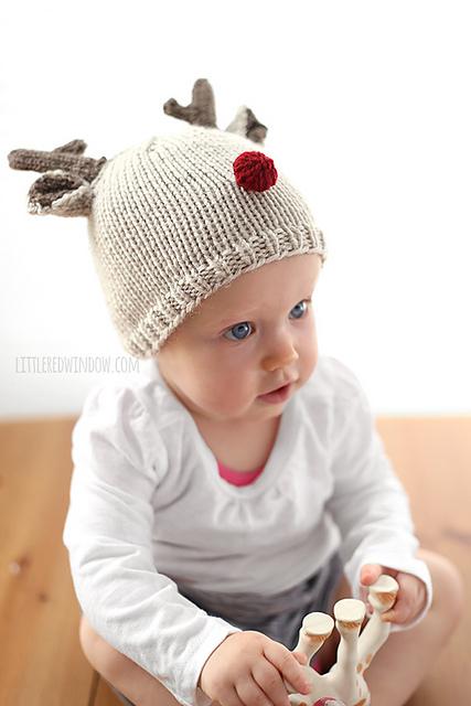 Knitting Patterns Galore Tiny Reindeer Hat