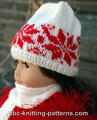 Free Knitting Pattern For Doll Hat : Knitting Patterns Galore - American Girl Doll Nordic Winter Hat
