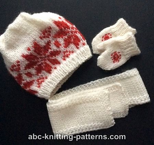 Knitting Patterns Galore American Girl Doll Winter Fun Mittens And