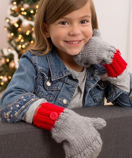 Knitting Patterns Galore Flip Top Kids Mittens