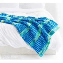 Dots and Ridges Knit Blanket