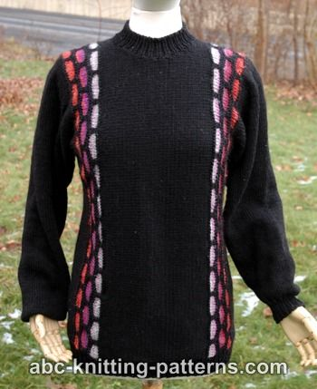 Knitting Patterns Galore Brick Road Seamless Sideways Sweater