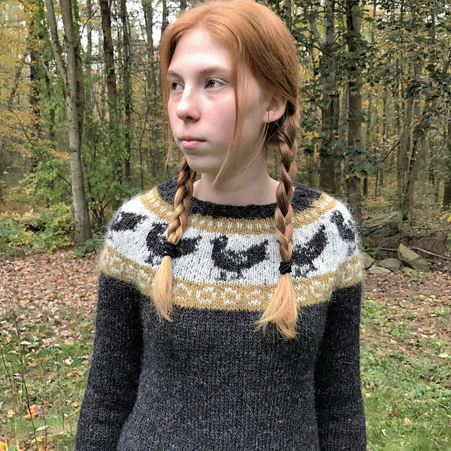 This sweater is an interesting twist on Nordic   Fair Isle style colorwork.  We thought the chicken theme was adorable! A free knitting pattern ... f8c102fac04