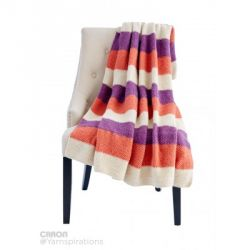 Bold and Stripy Knit Afghan
