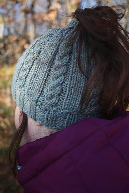 Knitting Patterns Galore Riva Bun Hat