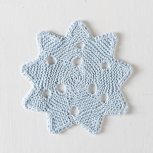 Knit Snowflake Pattern : Knitting Patterns Galore - Snowflake Dishcloth