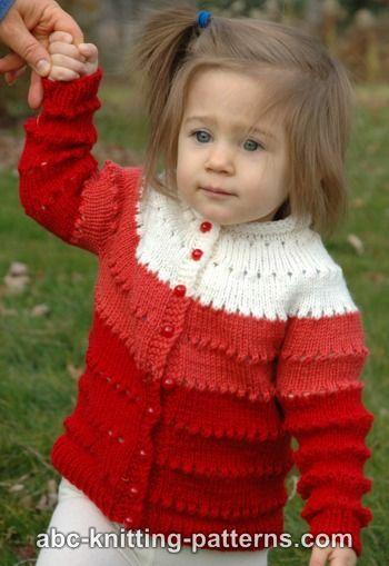 Knitting Patterns Galore Sweetheart Childs Eyelet Cardigan