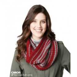 Shake It Up Striped Knit Cowl